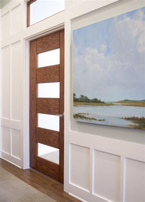 Trustile Exterior Doors Trustile Doors Tm9160 In White Oak With White Lami Glass Modern Doors By Trustile