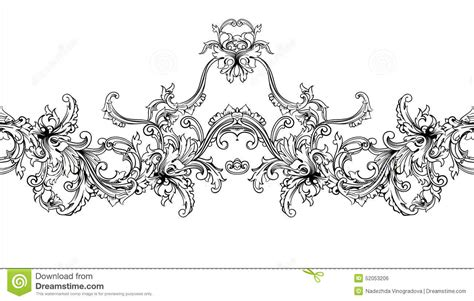baroque pattern frame ornamental border frame baroque pattern vector seamless