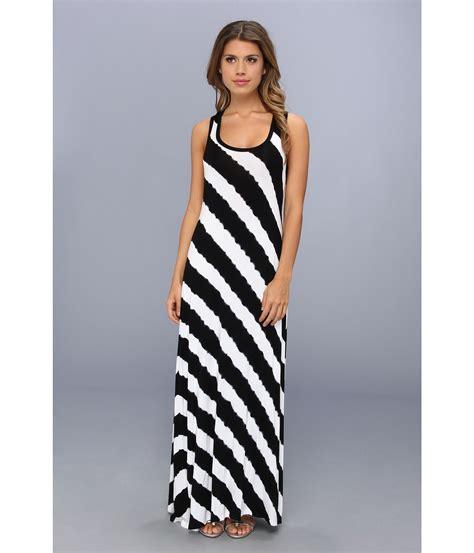 H M Striped Maxi Dress T3010 calvin klein tie dye striped maxi dress in black lyst