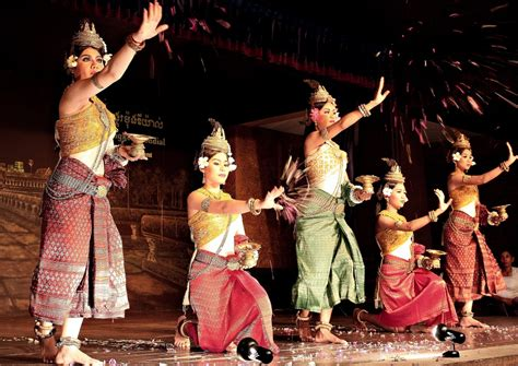 apsara passionate traditional dance  khmer people