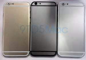 iphone 6 colors rumor iphone 6 leaked in three color variants appletell
