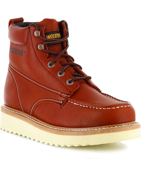 mens moc toe boot wolverine s moc toe work boots boot barn