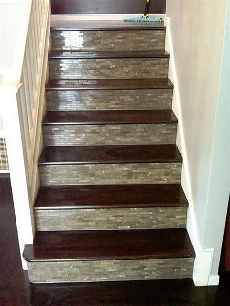 Tile wood, Wood stairs and Stairs on Pinterest