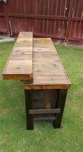Wooden Bar Table Reclaimed Pallet Wood Bar Table Pallet Furniture Projects