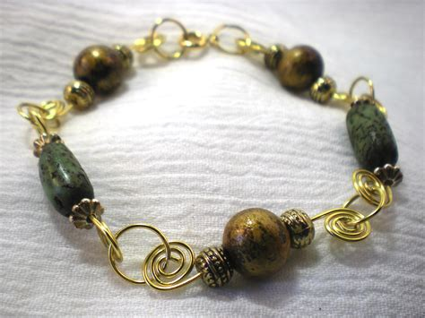 how to make a beaded bracelet with wire beaded spiral wire bracelet tutorial