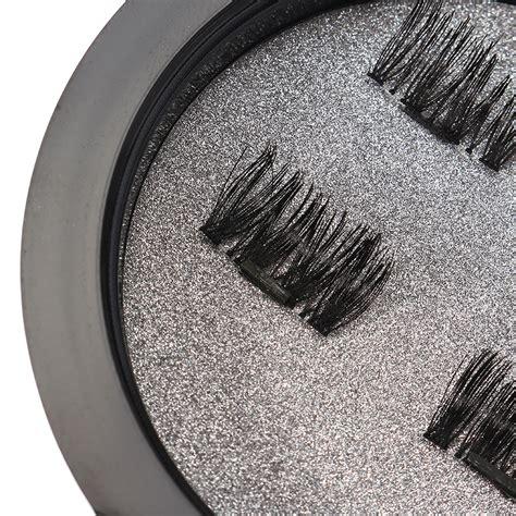 Eyelash R17 magnetic eyelashes reusable ultra thin black thicker 3d magnet false lash makeup was