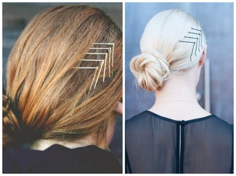 chevron bobby pin hairstyle women hairstyles
