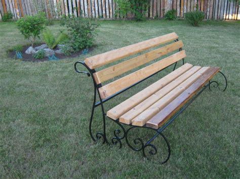 Gartenbank Holz Eisen