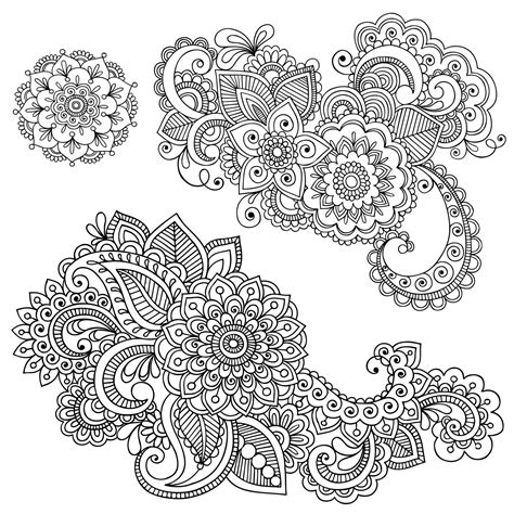 printable henna stencils free free coloring pages of henna flowers