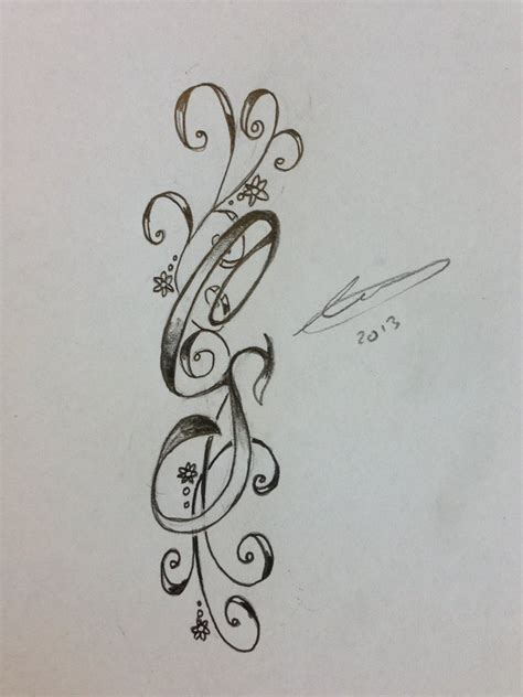 initial s tattoo designs cs initials by a18cey on deviantart