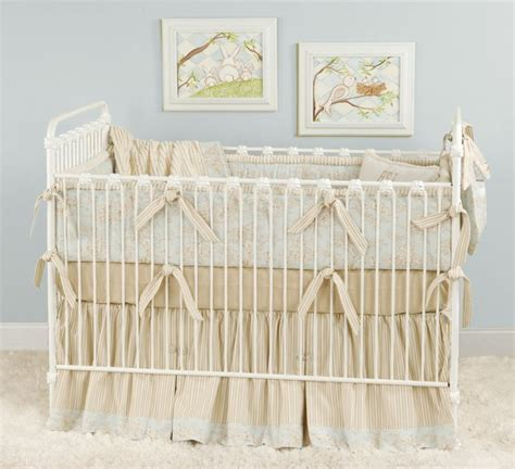 beige crib bedding blue beige cream toile baby bedding for a shabby chic
