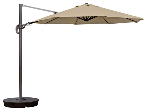 Outdoor Patio Umbrellas Sunbrella Blue Wave Products Freeport 11 Octagonal Cantilever Patio Umbrella In Sunbrella Acrylic