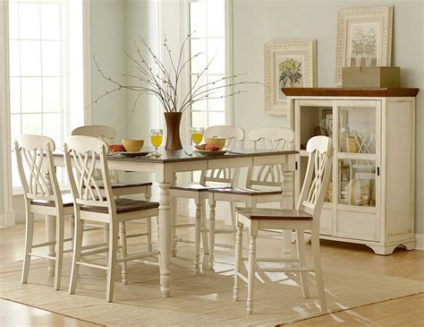 White Kitchen Furniture Sets Homelegance Ohana Counter Height Dining Set White D1393w 36 At Homelement