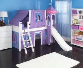 Castle Bunk Bed With Slide Purple Princess Castle Bed With Slide By Maxtrix 370