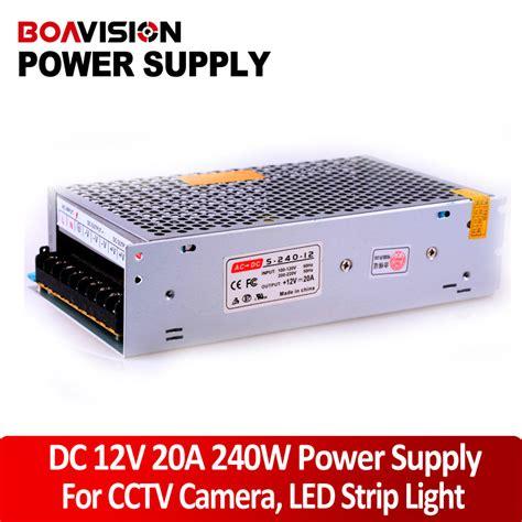 Lh Power Supply Adaptor 12v 20a 240w Led Cctv Kamera power supply 12v 20a 240w dc switching cctv power supply transformer led cctv dvr