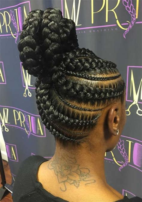 scalp braids in a high bun 53 goddess braids hairstyles tips on getting goddess