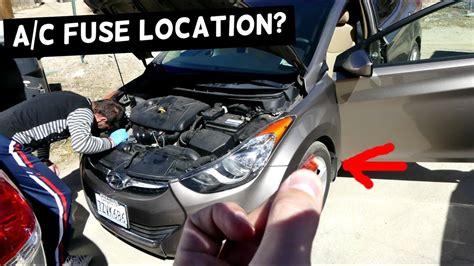 auto air conditioning repair 2013 hyundai sonata windshield wipe control hyundai elantra a c fuse air conditioner compressor fuse 2011 2012 2013 214 2015 2016 youtube