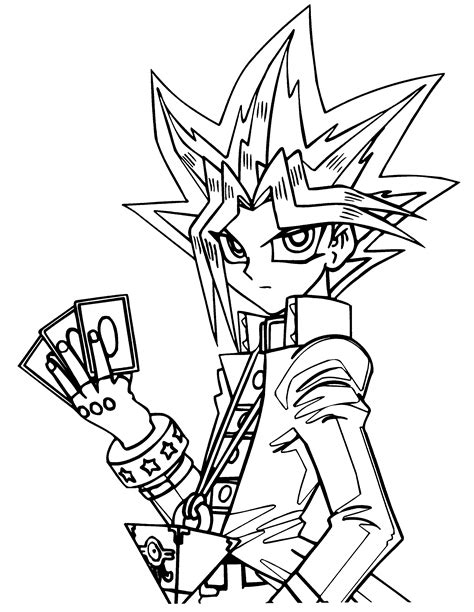 Coloring Page Yu Gi Oh by Coloring Pages 187 Yu Gi Oh Coloring Pages