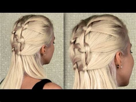 everyday hairstyles bebexo double knotted braid everyday half updo and ponytail