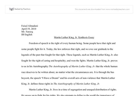 An Essay On Martin Luther King Jr by Mlk Essays Sle Research Paper Title Page Mla Simple Resume Format In Word Exle Of