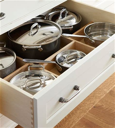 Pot Drawer Dividers by Ideas For Strategic Organization Storage