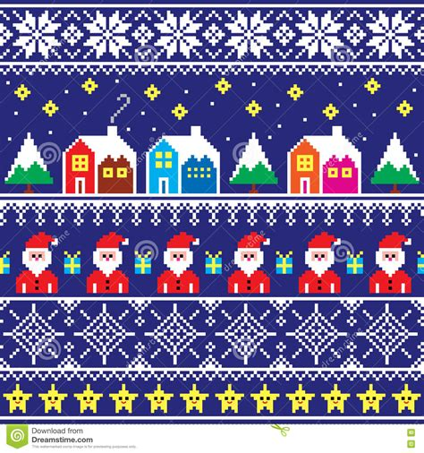 pattern for xmas jumper christmas jumper or sweater seamless pattern with santa
