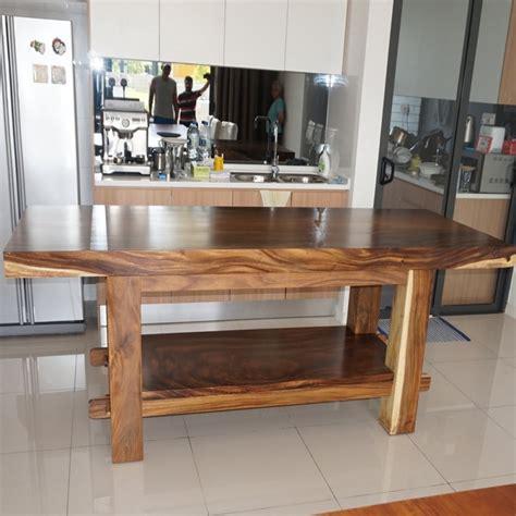 jual meja dapur kayu trembesi minimalis harga murah