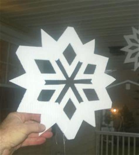 easy diy large outdoor waterproof snowflake christmas