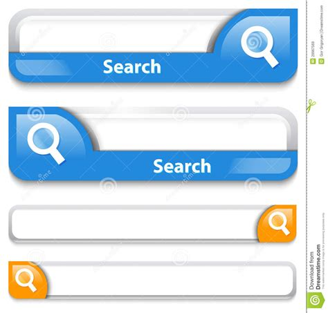 Search In Two Types Of Search Bar Design Royalty Free Stock Images