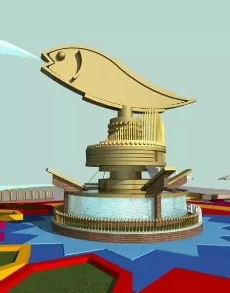 Patung Ikan Marlin Dan Layaran wow patung ikan belido senilai rp3 3 miliar hiasi bkb