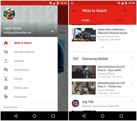 new youtube layout app youtube for android gets a material design makeover