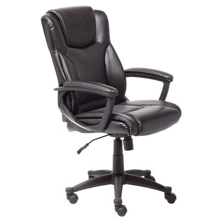 supple bonded leather executive office chair black walmartcom