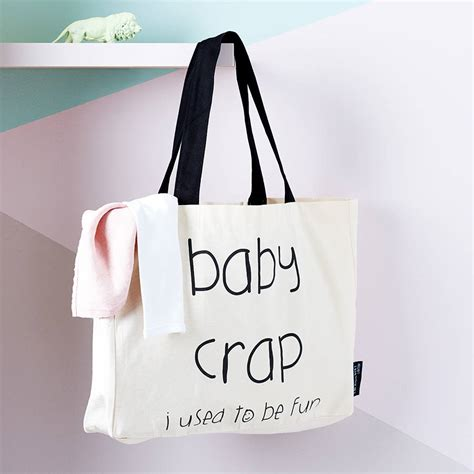 New Totebag baby crap i used to be tote bag by lola gilbert