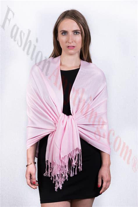 Silky Pashmina 1 silky soft solid pashmina scarf light pink
