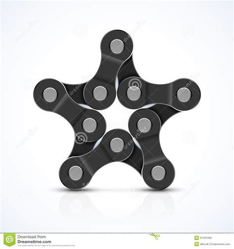 bike chain star stock vector illustration of mechanical