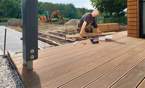 verlegen terrassendielen bauanleitung terrasse selber bauen bauplan auf selbst de