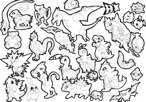 Chibi Pokemon Coloring Pages Images   Pokemon Images