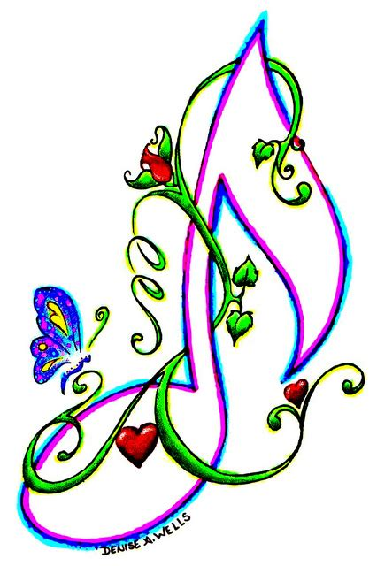 free design music colorful musical notes stencil clipart best