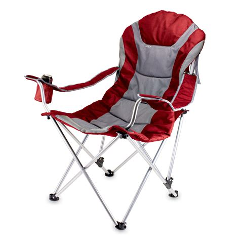 reclining foldable chair com picnic time portable reclining c chair