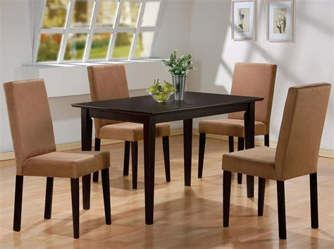 cappuccino finish dining table casual kitchen dining tables