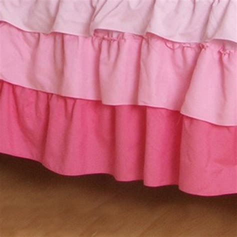 pink bed skirt full ruffle bed skirt
