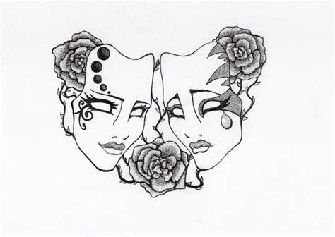 theater mask tattoo designs mask by norianum on deviantart
