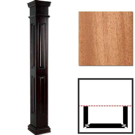 Wood Columns Interior by Mahogany Wooden Half Column Pilaster 10 Quot X 12 Square