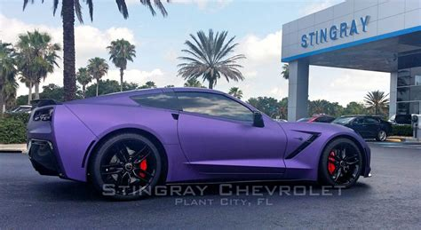 corvette stingray matte pics corvette stingray gets a matte purple metallic wrap