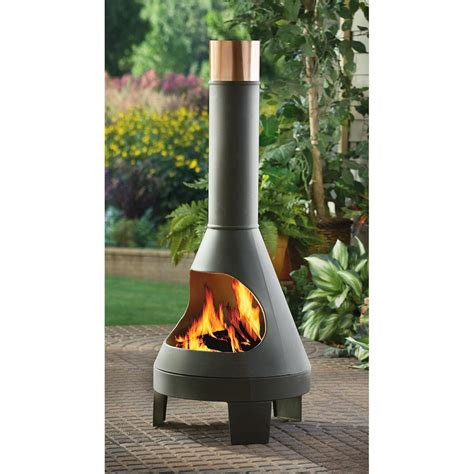 chiminea indoor fireplace guide gear 174 chiminea grill 215987 pits patio