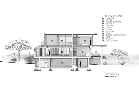 arch section gallery of house vista gottsmann architects 17