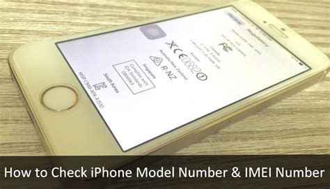 alternate ways  check iphone model number imei number