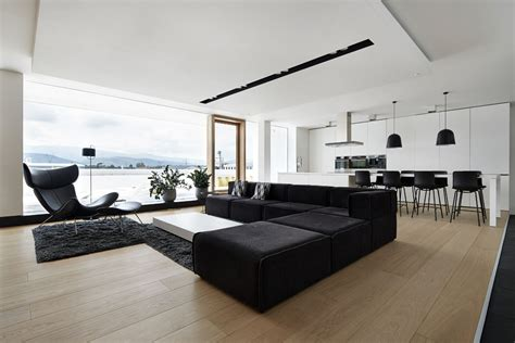 monochromatic living room 4 ultra luxurious interiors decorated in black and white