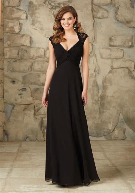 Bridesmaid Dresses Uk Sleeve - lace and chiffon bridesmaid dress with cap sleeves and