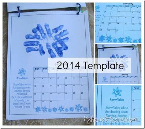 handprint calendar template 2014 handprint calendar parents parent gifts and